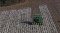 Cotton Picker In Action Stock Footage