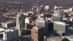 Raleigh aerial Stock Footage
