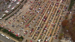 Carter-Finley Stadium Car Parks Pre-Match Stock Footage