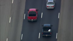 Traffic On Interstate Stock Footage