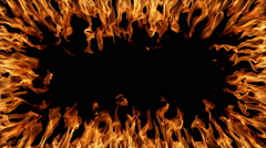 Fire Border Stock Footage