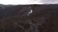 Blue Ridge Parkway Climbing Above Frost Line - stock footage