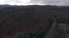 Blue Ridge Parkway And Red Car Stock Footage