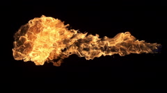 Shooting Fire Element Stock Footage
