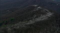 Above The Frost Line In Blue Ridge Mountains Stock Footage