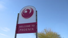 Welcome to Phoenix Sign Stock Footage