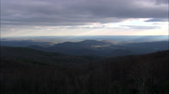 Winter Colours In Blue Ridge Mountains Stock Footage