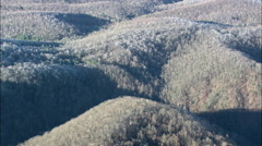 Frost On The Blue Ridge Mountains Stock Footage