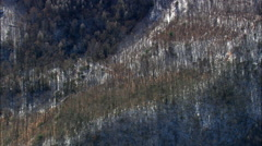 Smoky Mountains With A Dusting Of Snow Stock Footage