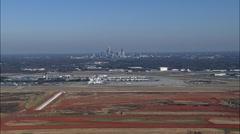 Charlotte Douglas International Airport Stock Footage