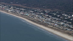 Oak Island And Beach Side Homes Stock Footage