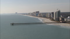 Myrtle Beach Piers Stock Footage