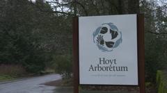Hoyt Arboretum Sign Stock Footage