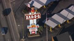 Little Joe Barbeque Stock Footage
