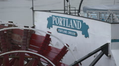 Portland Oregon Paddle Boat Sign Stock Footage