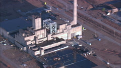 Old Nuclear Power Plants - stock footage