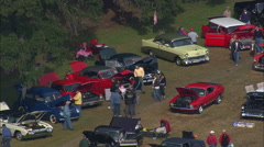 Classic Car Rally At Boone Hall Plantation Stock Footage