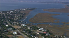 Houses And Jetties Around The Cove Stock Footage
