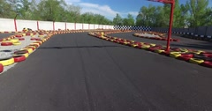 Karting track. Overhead shot Stock Footage