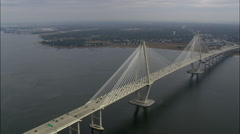 New Cooper River Bridge Stock Footage