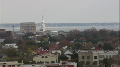 Charleston From The Ashley River Stock Footage