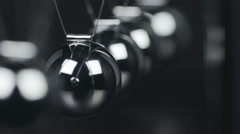 Slow Motion Newton's Cradle - stock footage