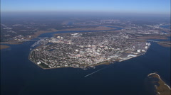 High Over Charleston Stock Footage