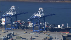 Port Of Charleston Stock Footage
