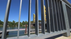 Sacramento California Tower Bridge Dolly Shot Stock Footage