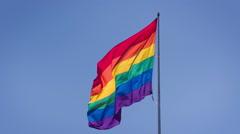 Rainbow Gay Pride Flag Stock Footage