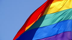 Rainbow Gay Pride Flag - stock footage