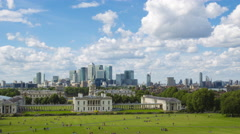 Greenwich,London ,modern and history Stock Footage