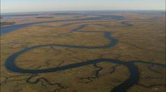 Marshland Around Ogeechee River Stock Footage