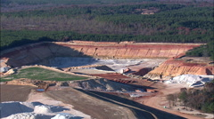 Quarry aerial Stock Footage
