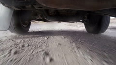Truck Driving on Rough Road Stock Footage