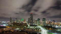 San Diego Time Lapse Night Stock Footage