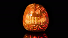 Halloween Pumpkin Rots Time Lapse Stock Footage