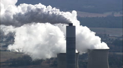 Plant Bowen, Coal-Fired Power Station Stock Footage