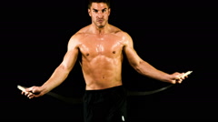 Athletic Male Fitness  Training Workout - stock footage