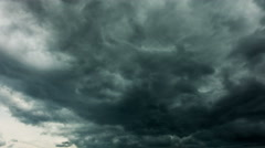 Dramatic storm clouds, time-lapse - stock footage