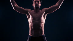 Athletic Male Fitness  Training Workout Stock Footage