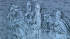 Confederate Memorial Carving Stock Footage