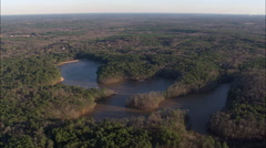 Indian Springs State Park And Chief Mcintosh Lake Stock Footage