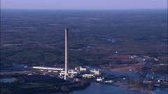 Power Station On Lake Sinclair At Dusk Stock Footage