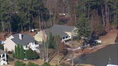 Houses Around Lake Sinclair Stock Footage