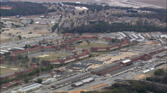 Passing Over Fort Benning Stock Footage