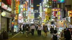 Colorful Signs In Shinjuku Tokyo Japan Stock Footage