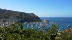 Bay and Town of Avalon on Catalina Island Stock Footage