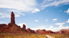 Time-Lapse Desert Clouds Valley Of The Gods Stock Footage