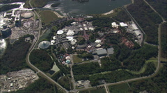 High Over The Magic Kingdom Stock Footage